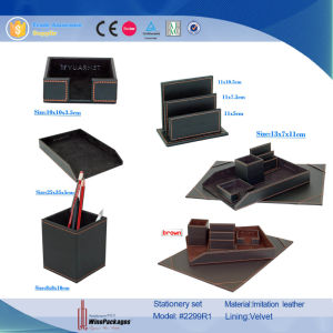 PU Leather Projects Desktop Stationery Sets (4130R3) pictures & photos