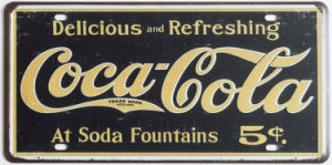 Vintage Embossed Custom Sign License Plate Tin Sign Printing pictures & photos