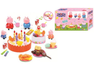 Favory Pink Pig Birthday Cake Toys with Light pictures & photos