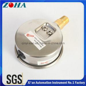 Half Stainless Steel Bottom Thread Type Pressure Gauge pictures & photos