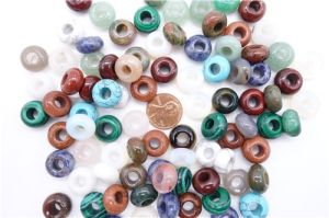 8*14mm Natural Crystal Gemstone Mixed Round Stone Big Hole Beads pictures & photos