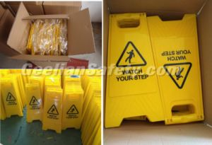 A Shape Whoelsale Road Safety Traffic Warning Wet Floor Sign Board for Hotel pictures & photos