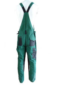 2017 Hot Good Quality Green Bib Pants Overall Work Cloth Workwear Apparel Short Coverall pictures & photos