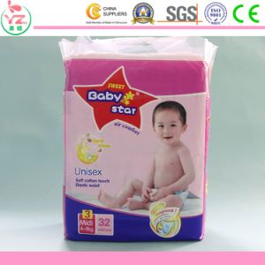 Disposable Cotton Baby Diaper with PE Film pictures & photos