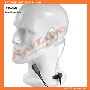 Clear Acoustic Tube Earpiece for Icom IC-F3GS/IC-F43gt/IC-F31 pictures & photos