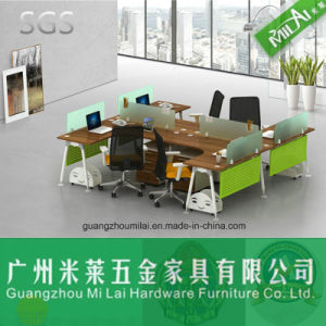 Modern Office Furniture U Shape Staff Table with Metal Frame pictures & photos