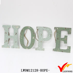 Wholesale Antique Vintage Water Paint Handmade Craft Metal Letter for Decoration pictures & photos