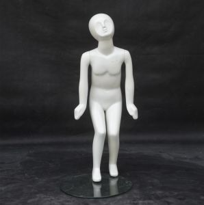Glossy White Fiberglass Children Mannequin for Dress