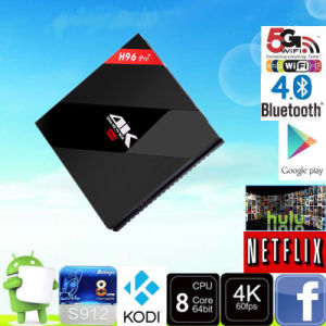 Google Play Store Downloaded TV Box Android 6.0 S912 H96 PRO+ Mxq pictures & photos