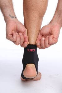 Elastic Sports Protective Breathable Neoprene Fabric with Ankle Brace Strap pictures & photos