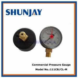 Red Adjustable Pointer Bottom and Back Pressure Gauge pictures & photos