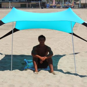 Portable Easy Pop up Beach Stretch Fabric Sun Shade Tent Canopy with Sand Anchors Excellent Beach Tent pictures & photos