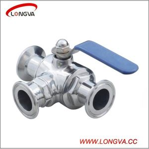 Stainless Steel Three Way Manual Clamp Ball Valve pictures & photos