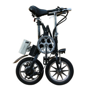14 Inch Carbon Steel Folding Portable Electric Bicycle Urban E Bicycle pictures & photos