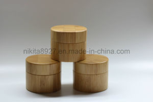 Plastic Bamboo Color Cosmetic Cream Jar (NJ112) pictures & photos