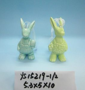 Ceramic Rabbit Hanging Ornaments for Easter Decoration pictures & photos