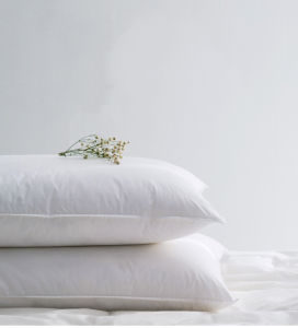 Nice White and Grey Duck Down Feather Pillow pictures & photos