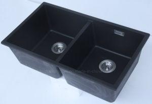 Undermount Double Bowl Granite Kitchen Sink pictures & photos