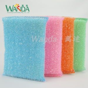 High Density Kitchen Cleaning Sponge Scourer Mesh Sponge Scouring Pad pictures & photos