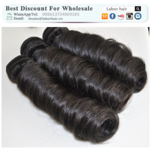 Unprocessed Labor Hair Extension 105g (+/-2g) /Bundle Natural Brazilian Virgin Hair Spring Curl 100% Human Hair Weaves Grade 8A pictures & photos