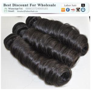 Unprocessed Labor Hair Extension 105g (+/-2g) /Bundle Natural Brazilian Virgin Hair Spring Curl 100% Human Hair Weaves Grade 9A pictures & photos
