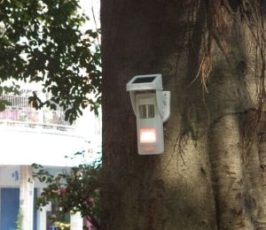 Outdoor Solar Alarm Motion Detectors with Sound & Light Alert for Park Fire Fighting pictures & photos