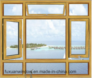 Hot Sale Aluminum Alloy American Stype Casement Window with Fiberglass Flynet pictures & photos