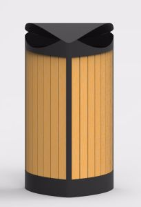 Hot Selling Outdoor Trash Can for France Market (HW-534) pictures & photos