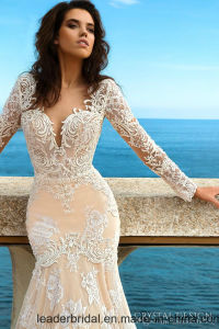 2017 New Mermaid Wedding Dress Long Sleeves Lace Bridal Gown Ya112 pictures & photos