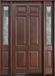 House Solid Wood Entry Rustic Door with Windonw (GSP1-033) pictures & photos