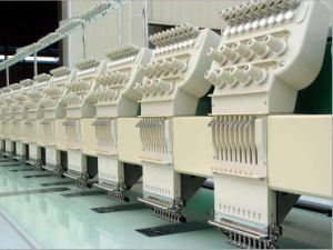 12 Head 9 Colors Flat Embroidery Machine pictures & photos