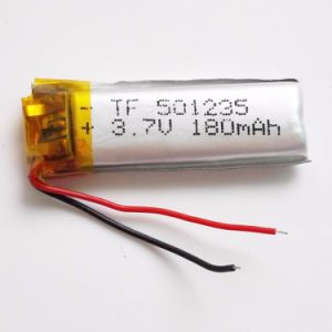 3.7V 180mAh Battery 501235 Lithium Polymer Li-Po Li Ion Rechargeable Battery for MP3 MP4 MP5 GPS PSP Mobile Electronic Part pictures & photos