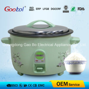 Flower Design Big Drum Rice Cooker with Nonstick Coating Inner Pot pictures & photos