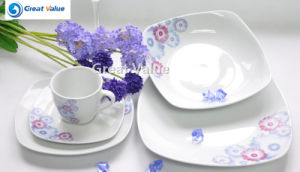 Hot Sale 20PCS Square White Dishes Ceramic Set pictures & photos