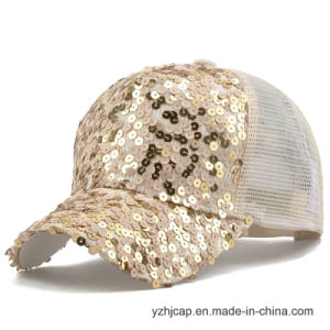 Custom Embroidery Cap Burshed Cotton Promotional Sports Embroidery Lady′s Cap pictures & photos