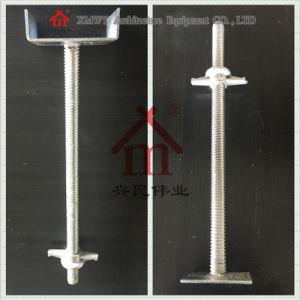 Scaffolding Accessories Adjustable Steel Seamless U Head Screw / Base Jack / Girder Brace Frame