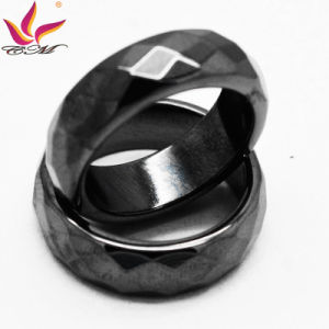 Htr-006b Original Fashion 6mm Width Black Section Hematite Ring Jewelry pictures & photos