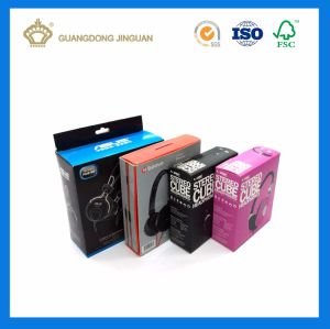 Color Printing Earphone/ Headset Paper Box with Hook pictures & photos