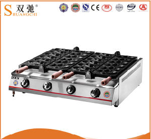 Hot Sale Commercial Taiyaki Gas Fish Cake Machine pictures & photos
