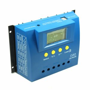 80A 12V/24V Solar Panel Cell PV of Charge Controller with Backlight and Full Display G80 pictures & photos