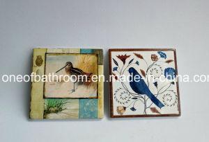 Ceramic Cork Slip-Resistant Insulation Mat Circle Coasters pictures & photos