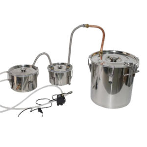 High Efficient Factory Price Home Moonshine Brewing Kit Vacuum Water Distiller with Water Pump pictures & photos