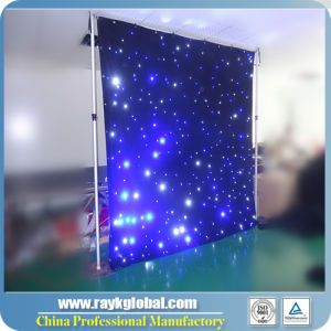 High Quality Fireproof Wedding LED Star Curtain LED Backdrop pictures & photos