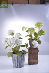 Hydrangea in Rattan Basket of Plastic Flowers pictures & photos
