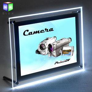 LED Crystal Picture Frame for Wall Mounted Poster Acrylic Light Box pictures & photos