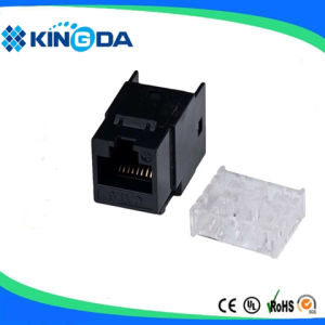 Dual IDC CAT6 8P8C keystone jack made in China pictures & photos