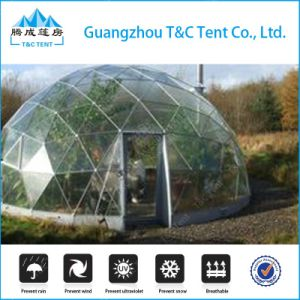Outdoor Aluminum Structure White PVC Geodesic Dome Tent for Camping pictures & photos