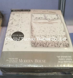 Whole Seles Bedding Sets Microfiber Embroidery Lace Sheet Sets pictures & photos