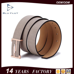 Guangzhou Leather Co Ltd Golden Buckle Men′s Leather Dress Belts pictures & photos