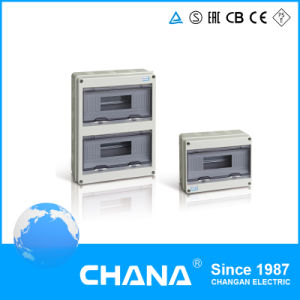 3row 2row Electrical Power Plastic Wiring Weatherproof Distribution Box pictures & photos